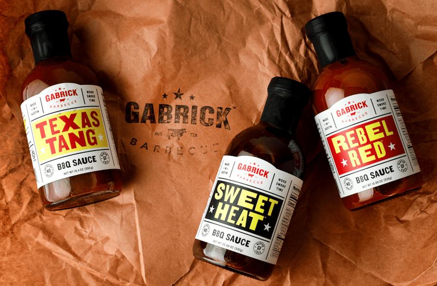 bbq sauce bottle on butcher paper