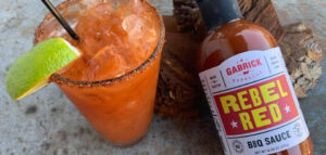 Bloody Mary BBQ SAUCE with rebel red